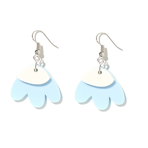 ELLE EARRINGS | BABY BLUE + CREAM | EMELDO
