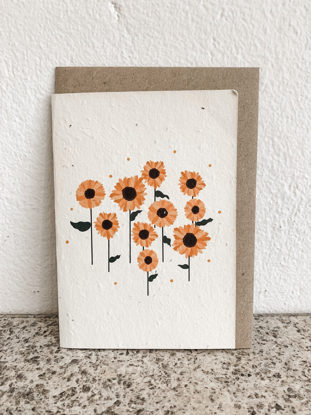 SUNFLOWER | SEEDED CARD