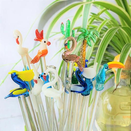 MIGUEL GLASS SWIZZLE STICKS