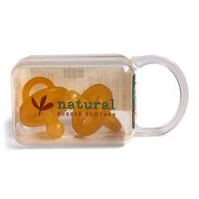 NATURAL RUBBER SOOTHER | ROUNDED SOOTHER TWIN PACK