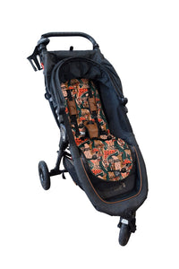 LUXE PRAM LINER | MYSTICAL MUSHROOMS | THE SOMEWHERE CO