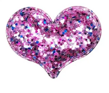 SPARKLE GLITTER HEART CLIPS