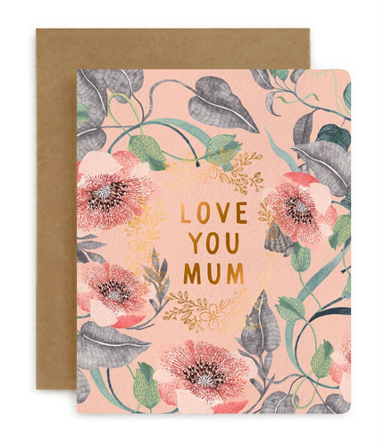 LOVE YOU MUM | BLOMSTRA | BESPOKE LETTERPRESS