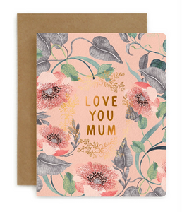 BESPOKE LETTERPRESS | LOVE YOU MUM | BLOMSTRA