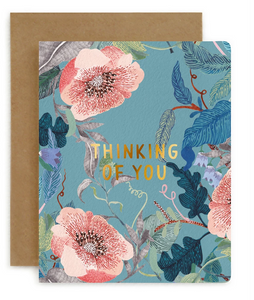 BESPOKE LETTERPRESS | THINKING OF YOU | BLOMSTRA