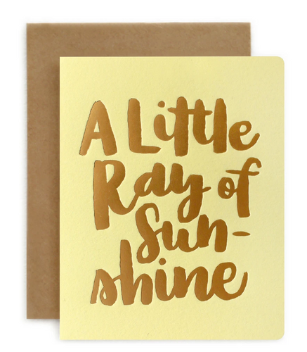 BESPOKE LETTERPRESS | A LITTLE RAY OF SUNSHINE