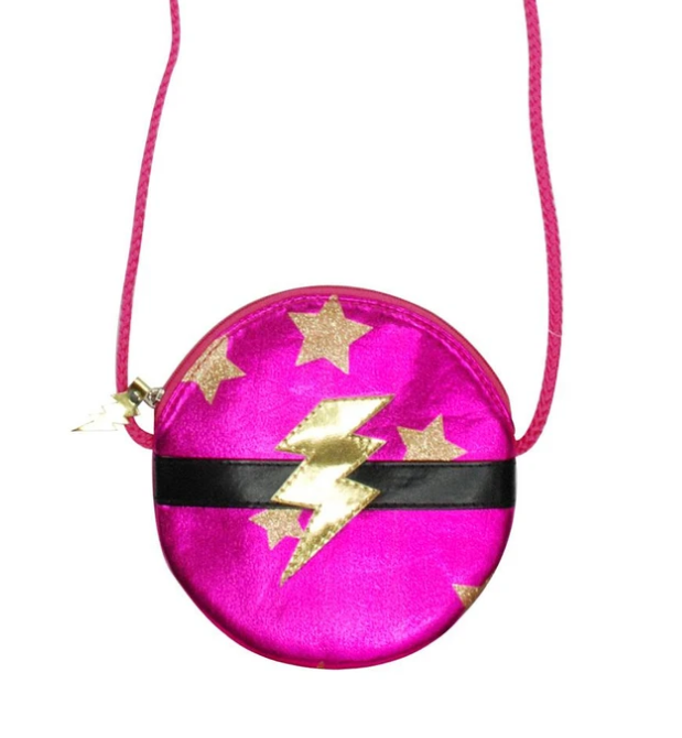 SUPERHERO ROUND SHOULDER BAG | PINK POPPY