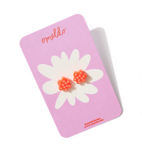 FLOWER STUD | NEON RED