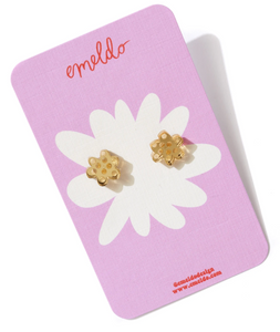 FLOWER STUD | GOLD MIRROR