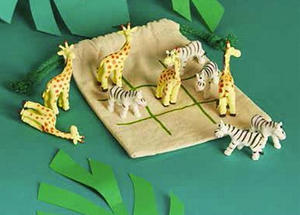 SAFARI TIC TAC TOE SET