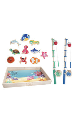 TOY WOOD FISHING SET