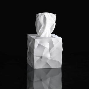 WIPY CUBE TISSUE BOX COVER | WHITE