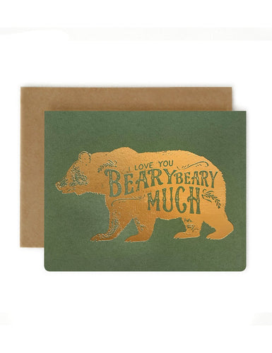 I LOVE YOU BEARY MUCH | BESPOKE LETTERPRESS