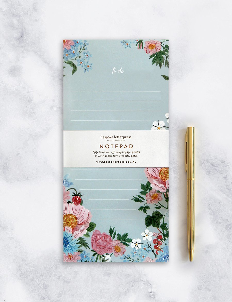 BESPOKE LETTERPRESS | NOTEPAD | TO DO