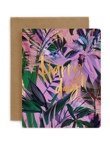 BESPOKE LETTERPRESS | HAPPY DAY! | JUNGLE