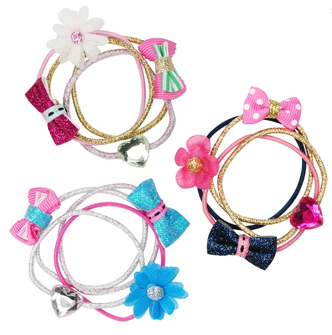 BOW + BLOOMS HAIR ELASTIC SET | PINK POPPY