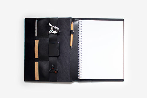 CORBAN + BLAIR | SLIM LEATHER COMPENDIUM | BLACK