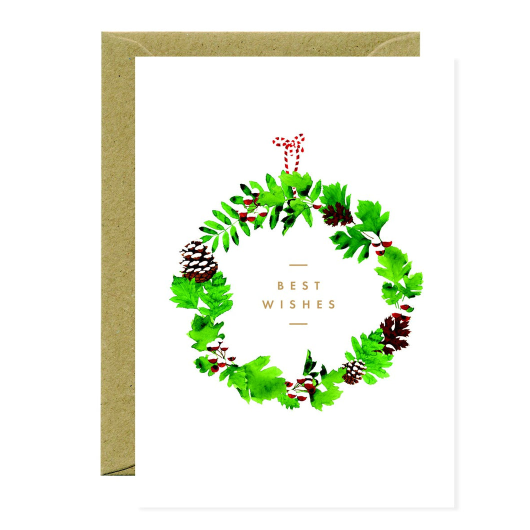 CHRISTMAS WREATH | BEST WISHES