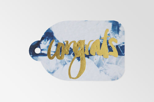 RACHEL KENNEDY FOIL GIFT TAG: CONGRATS