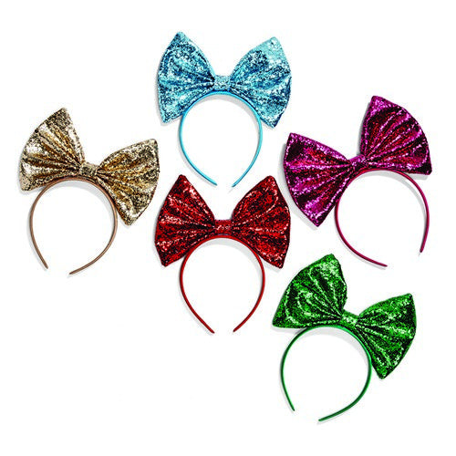 OVERSIZED GLITTER BOW HEADBAND