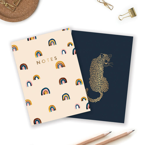 LEOPARD + RAINBOWS | A6 DUO NOTEBOOKS