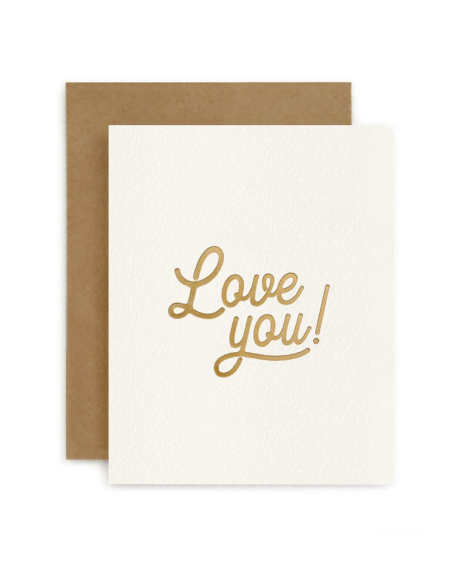 LOVE YOU | BESPOKE LETTERPRESS