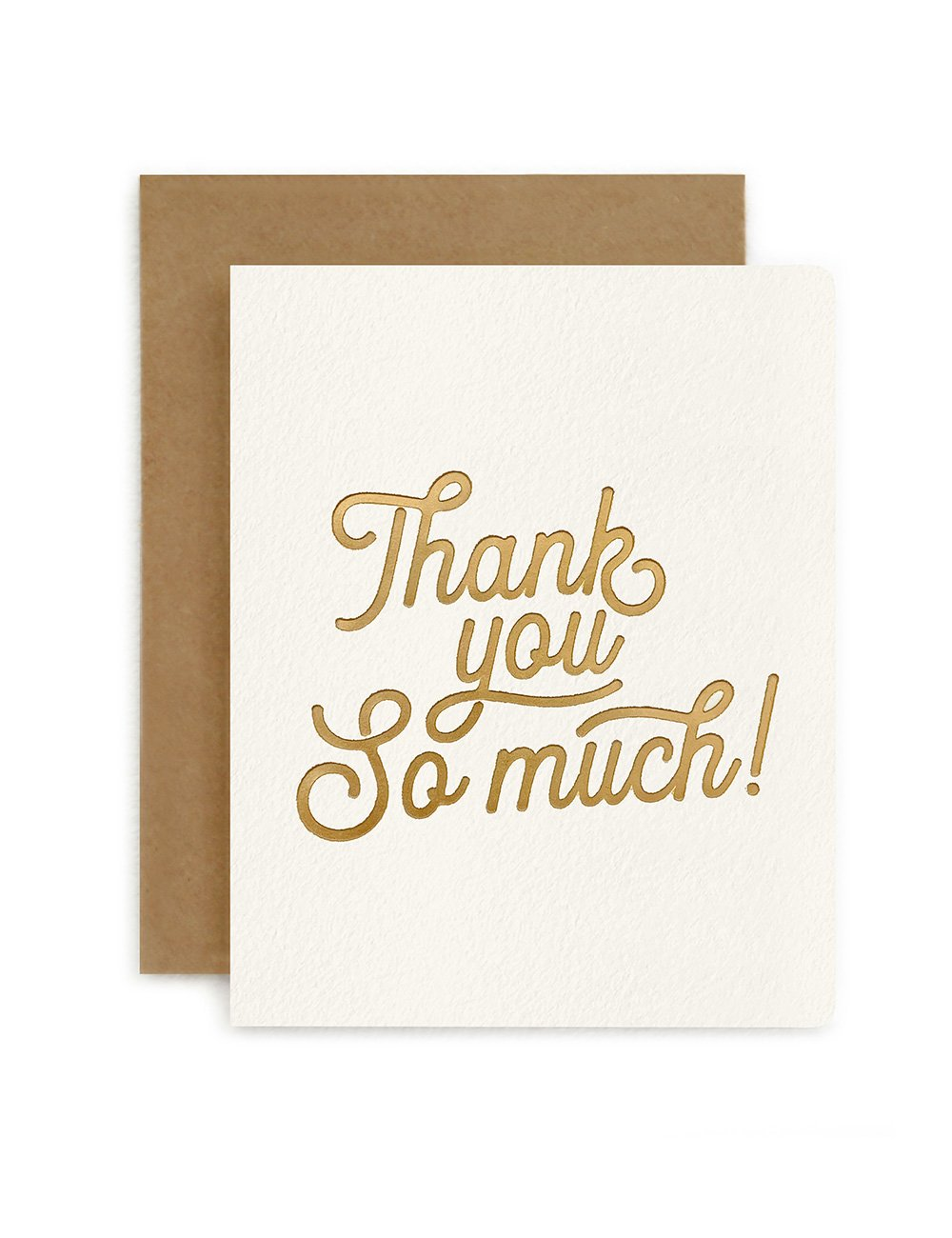 THANK YOU SO MUCH | PETITE CARD | BESPOKE LETTERPRESS