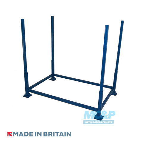 Budget metal post stillage with demountable legs for hire