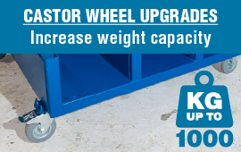Upgrade your Stillage Castor Wheels to a load weight of 1000KG