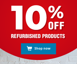10% off refurbished products