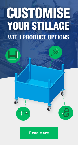 Customise your stillage with product options