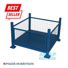 Metal/Steel Stillage (Pallet) with Mesh Sides and Detachable Front