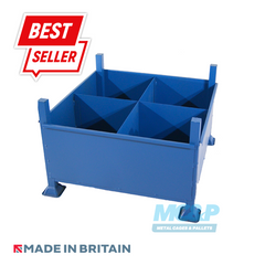 Metal/Steel Stillage (Pallet) with Solid Sides and Removable Partitions