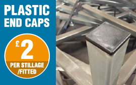 Buy plastic end caps for your post pallets and stillages