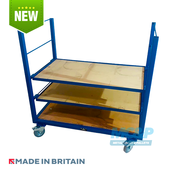 Heavy duty distribution trolley with removable shelves - buy now!
