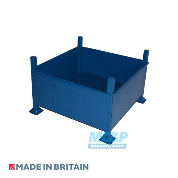 Stackable Metal Storage Stillage With Solid Sides and Base