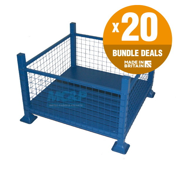 Bulk Buy Metal Stillages With Mesh Sides