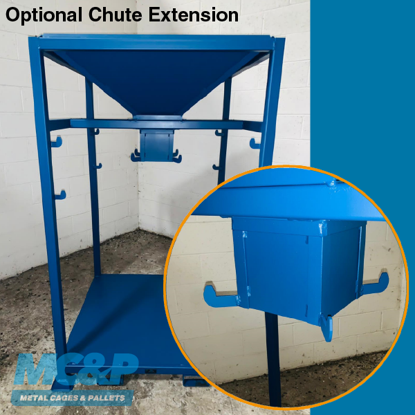 Chute Extension for Bulk Bag/Tonne Bag Filling Hopper
