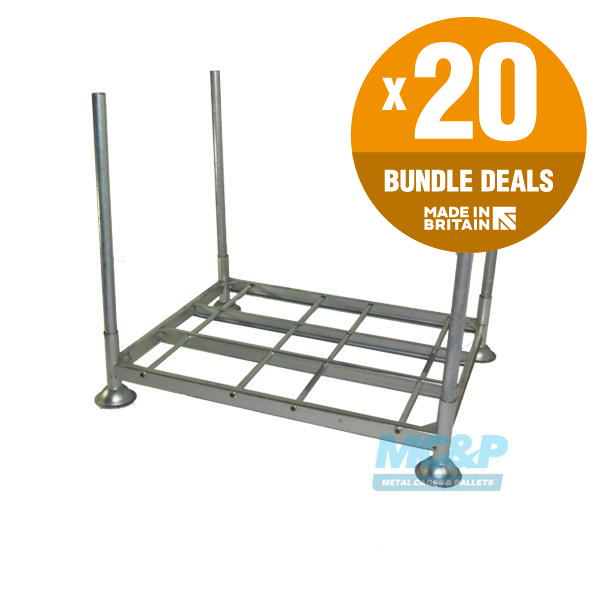 Galvanised Metal Post Pallet with Demountable Legs From £80.10