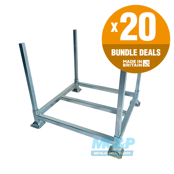 Galvanised Metal Post Pallet + Demountable Legs - x20 UNIT BUNDLE DEAL - SAVE 10%