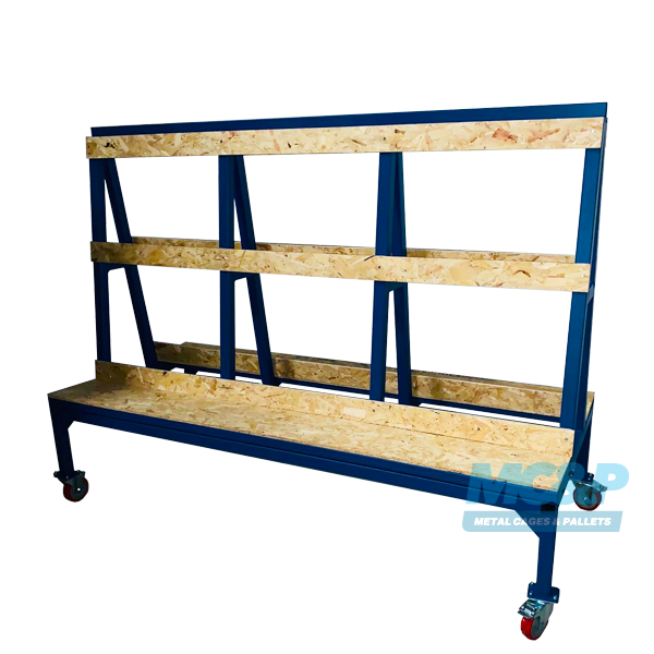 Large A Frame Glass Stillage Trolley (Tall Profile)