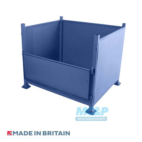 Metal/Steel Stillage (Pallet) with Solid Sides and Half Drop Front Door product image 1