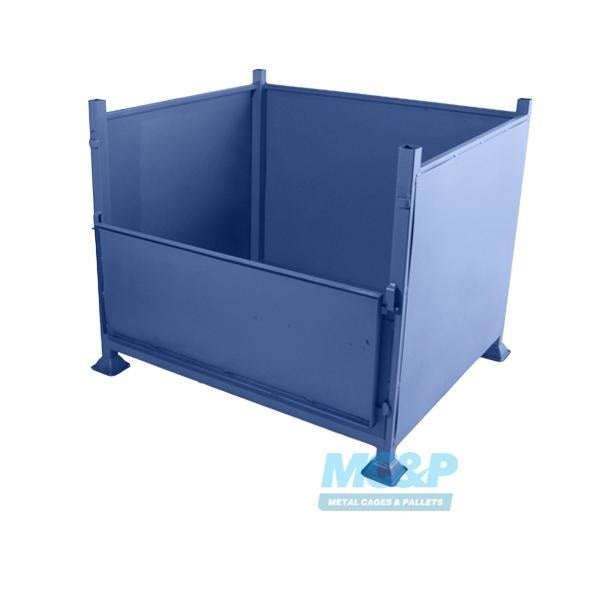 Metal Stillage with Solid Sides and Half Drop Front Door