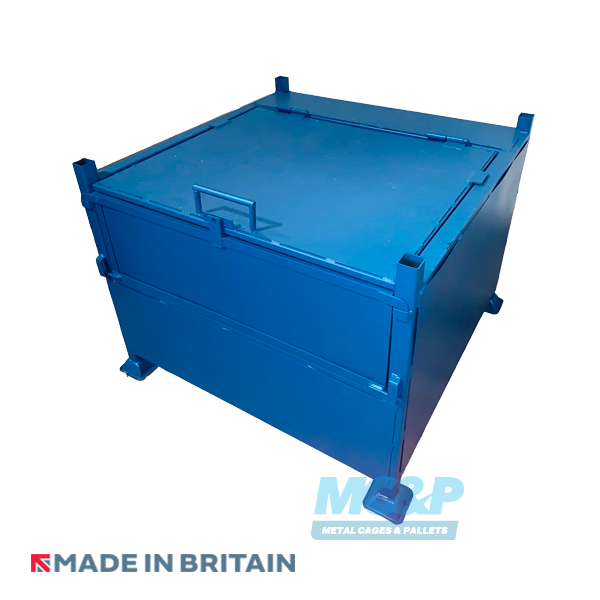 Large Lockable Site Stillage (Storage Box) With Half-Drop Front image 2