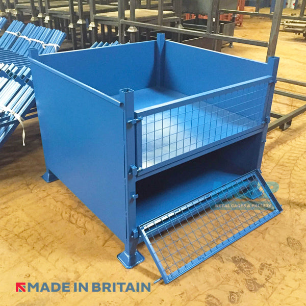 Metal/Steel Stillage (Pallet) with Solid Sides and Double Drop Fronted Doors product image 2