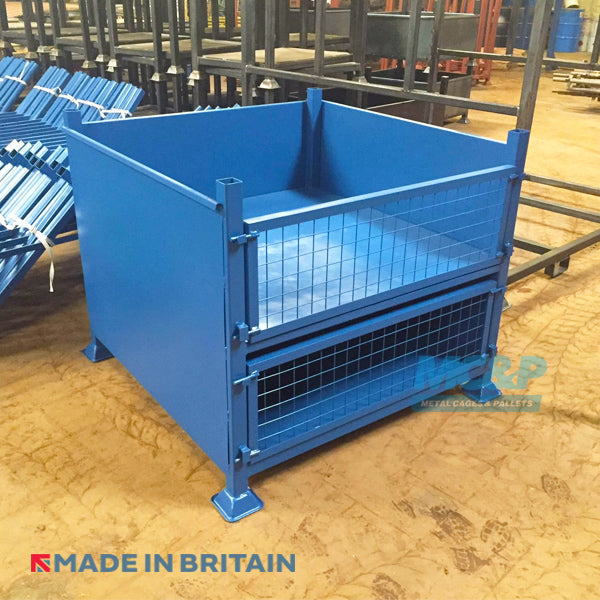 Metal/Steel Stillage (Pallet) with Solid Sides and Double Drop Fronted Doors product image 1