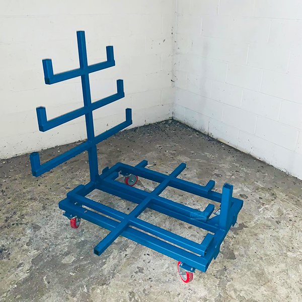 Mobile Pipe Rack Storage System Featuring Demountable Legs