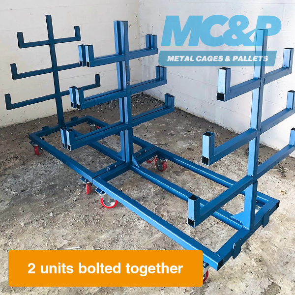 Mobile Pipe Rack Storage Trolley