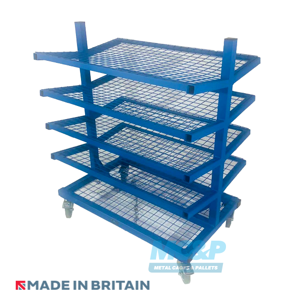 Pipe/Rod Racking Stillage with 5 Mesh Shelves