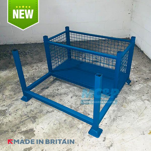 Combined Post Pallet and Mesh Storage Cage, ideal for Storing Pipes, Rods, Tubes etc.